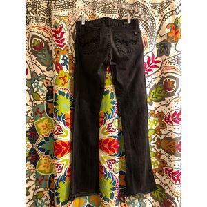 BUFFALO David button black lowrise jeans denim